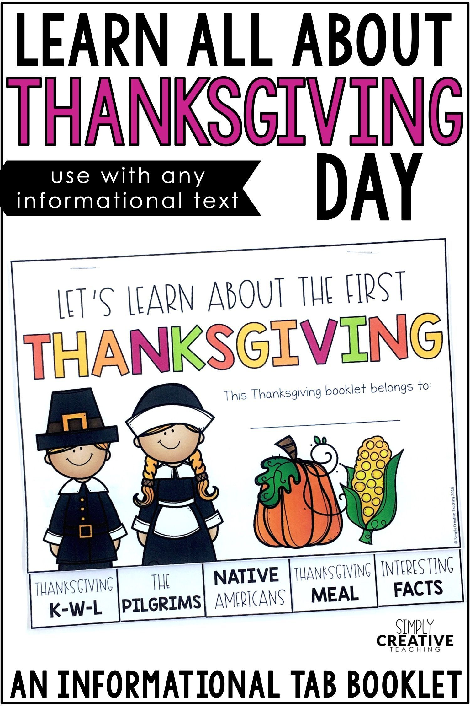 First Thanksgiving Informational Book Amp Activities