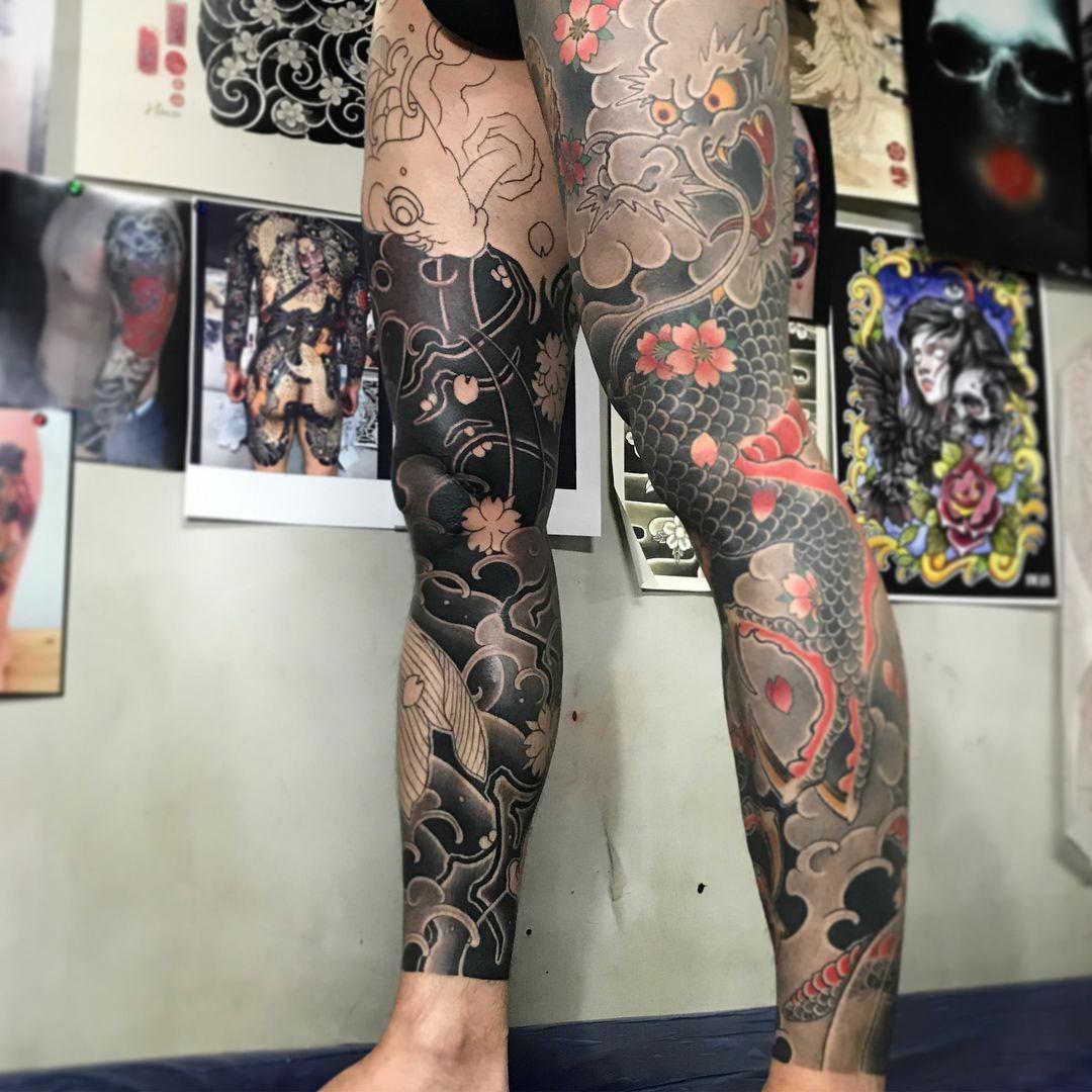 Ym Horimaroo Populargeometrictattoos Leg Tattoos Japanese Leg Tattoo Tattoos For Guys