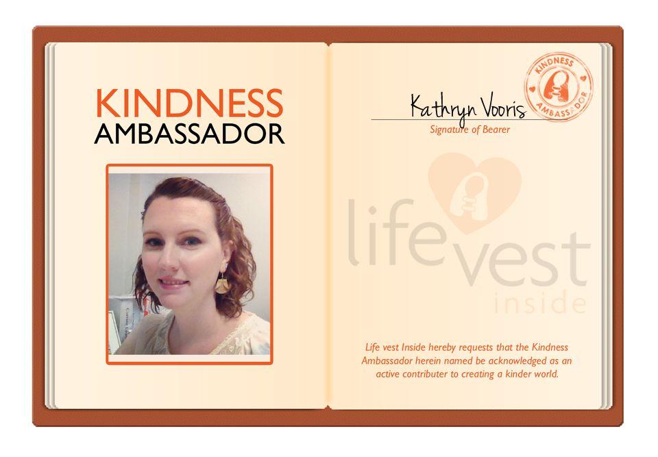 Kathryn Vooris #Kindtastic #LifeVestInside #Ambassador