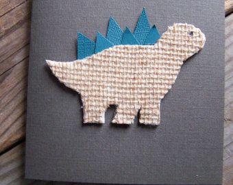 NEW! Burlap Dino Notecard