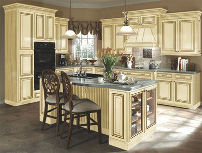 vanilla cream kitchens | ... cabinet style Sedona with the Vanilla ...