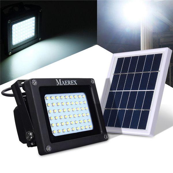 Solar Powered 54 Led Sensor Flood Light Waterproof Outdoor