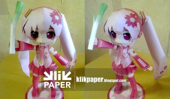 Chibi Sakura Miku Papercraft Download by lovemikuforever