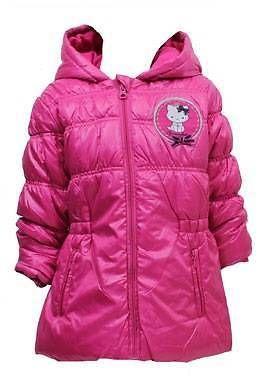 0bed95b30 Girls  hello kitty puffa winter  fleece lined  hooded jacket coat ...