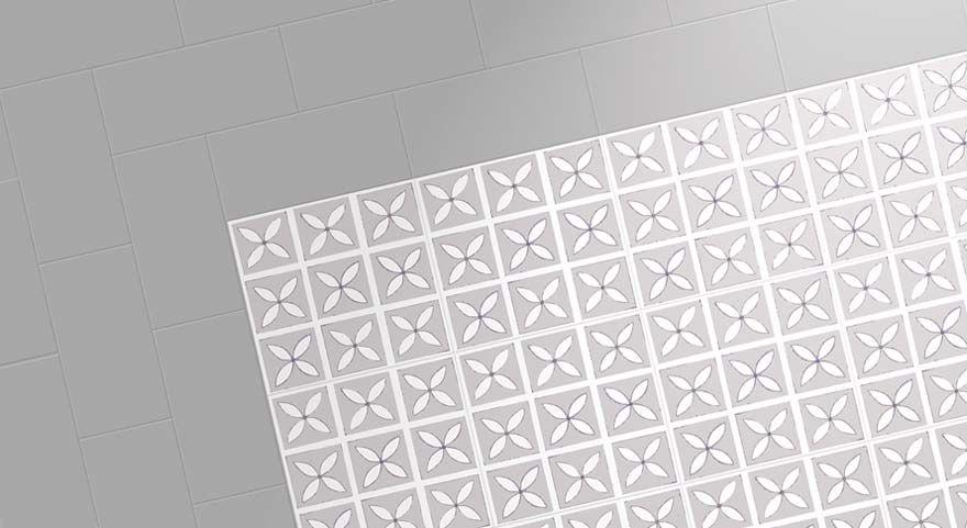 Grey Border And Designer Vinyl Floor Pretty Spaces Pinterest