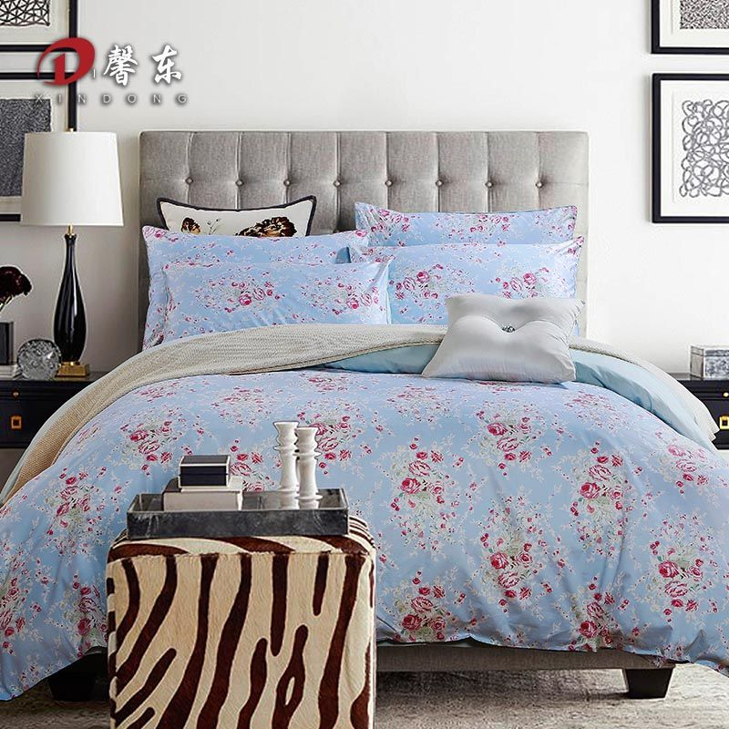 christmas decoration red floral satin bedding set luxury egyptian cotton bed set king queen size bed linen duvet cover set bedclothes blue z71 aliexpress
