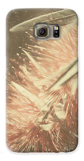 Australia Flora Galaxy S6 Phone Case featuring the genitals artwork Bottlebrush Fine Art Illustration by Ryan Jorgensen