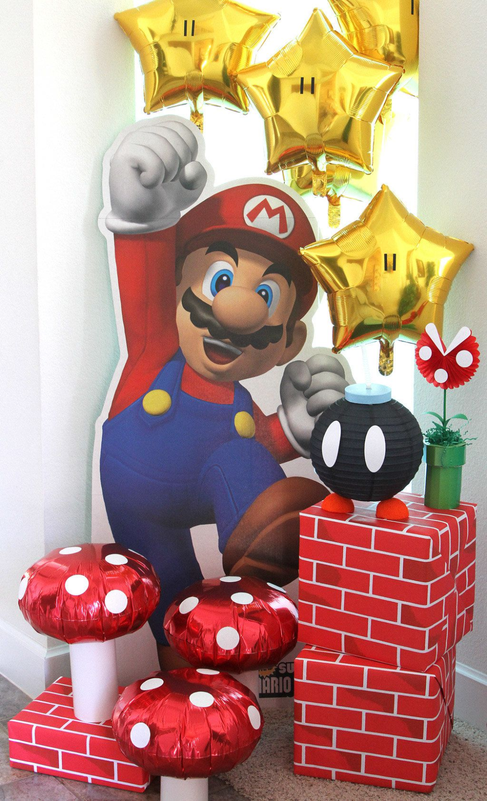 Super Mario Party Ideas Kids Party Ideas At Birthday In A Box Mario Bros Party Super Mario Bros Party Super Mario Bros Birthday Party