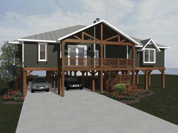 Beach Style House Plan 3 Beds 2 Baths 1902 Sq Ft Plan 14 252 Beach Style House Plans Craftsman House Plans Coastal House Plans