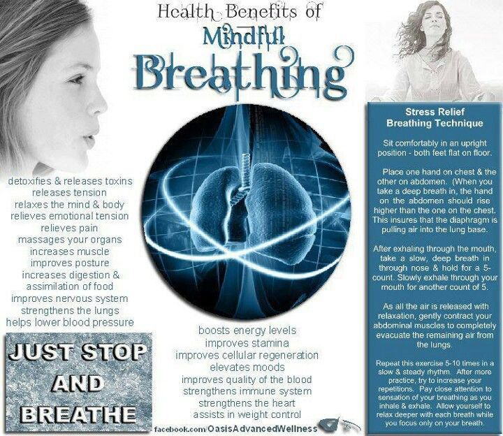 Breathing...I tend to breathe shallow unknowingly, and accidentally amp up my anxiety. Oops.