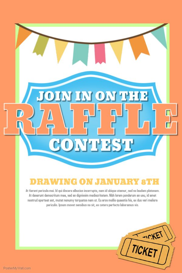 Raffle Contest Poster Template Contest Posters Pinterest - clothing drive flyer template