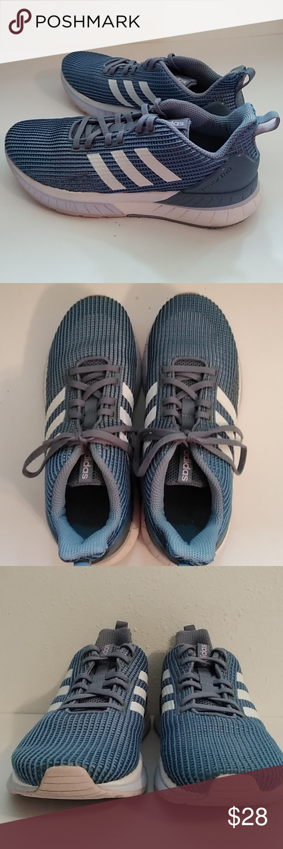 0a987965a74 Adidas Questar TND Cloudfoam Women s Running Shoes Adidas Questar TND  Cloudfoam Raw Grey White   Aero Blue Running Shoe. 7M ( more like 7 1 2)  Excellent ...