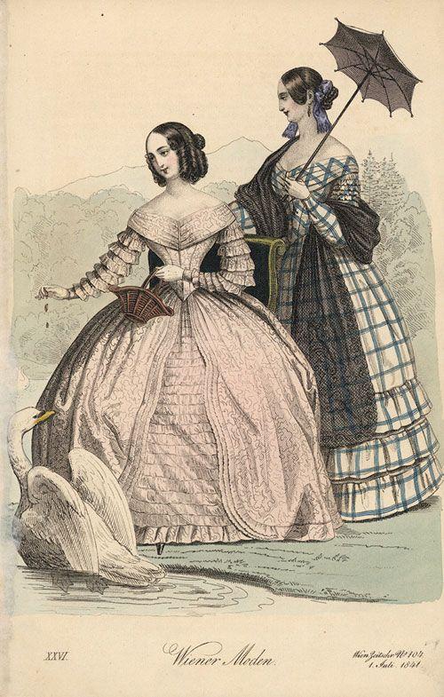 Wiene Moden 1841 Damen 1840s In Western Fashion Wikipedia Fashion Plates Historical Fashion Victorian Fashion