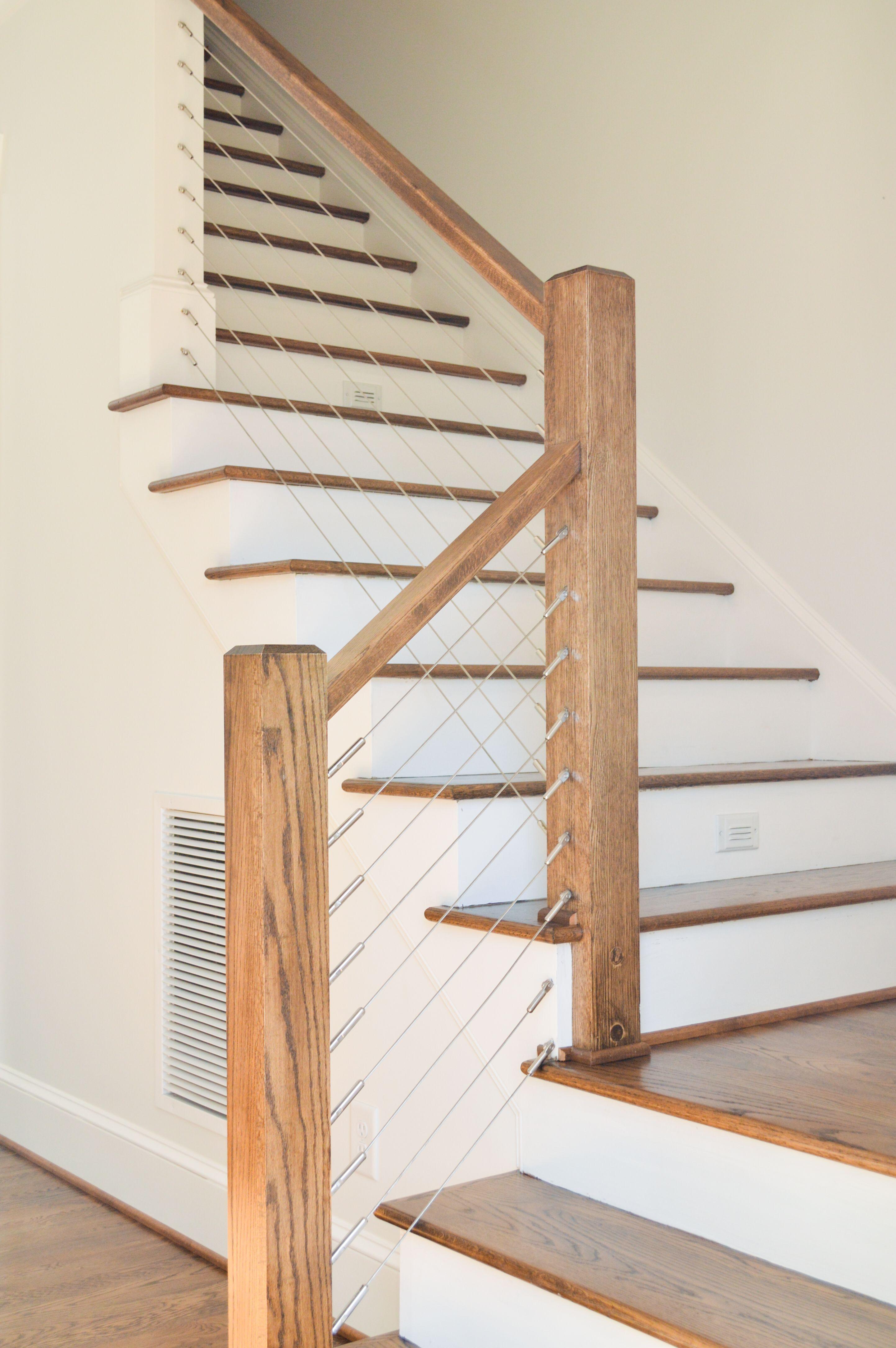 Best Modern Farmhouse Farmhouse Stairs Farmhouse Staircase 640 x 480