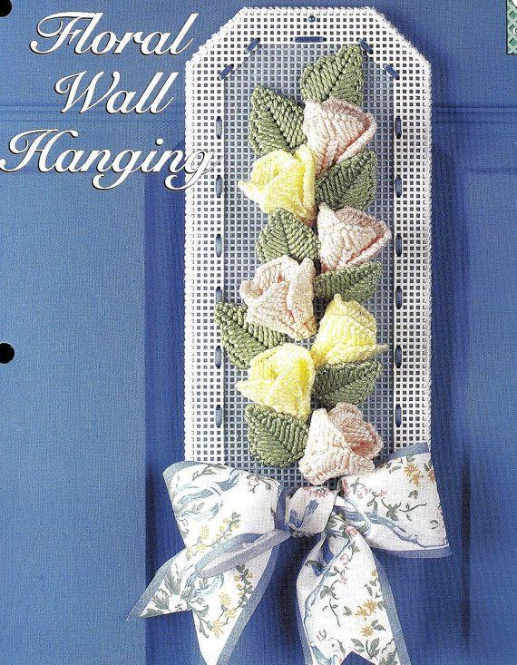 Floral wall hanging plastic canvas pattern lona de - Lonas de plastico ...