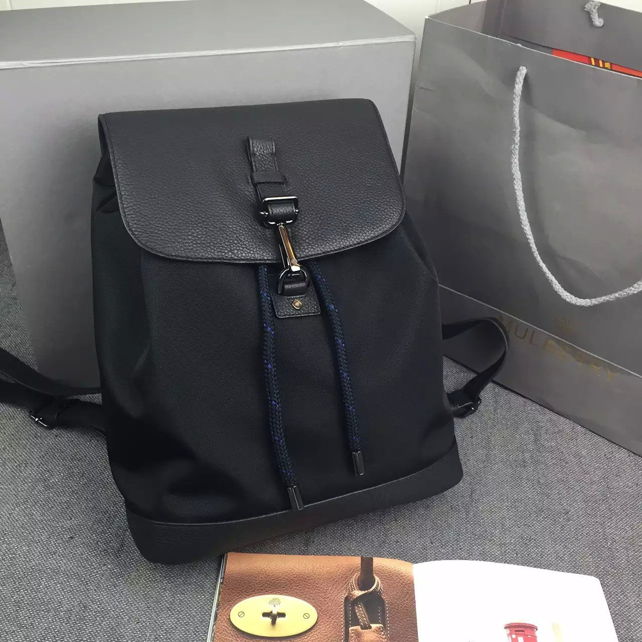 832d2748189f New Edition!2016 Mulberry Handbags Collection Outlet UK-Mulberry Small  Marty Backpack Black Calfskin