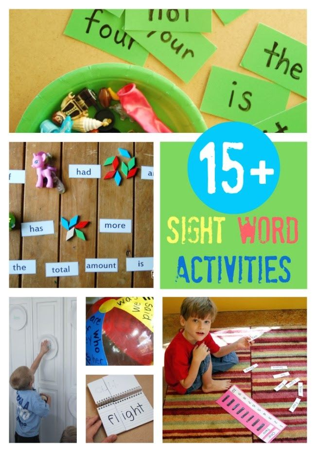 LMN Tree: Helping Students Read: 15 Sight Word Games for Kids