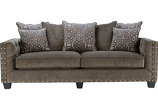 Shop For A Cindy Crawford Home Sidney Road Gray Sofa At Rooms To