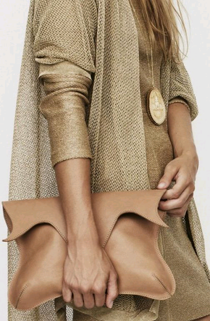 Shimmery shirt and oversized sweater- looks cozy!