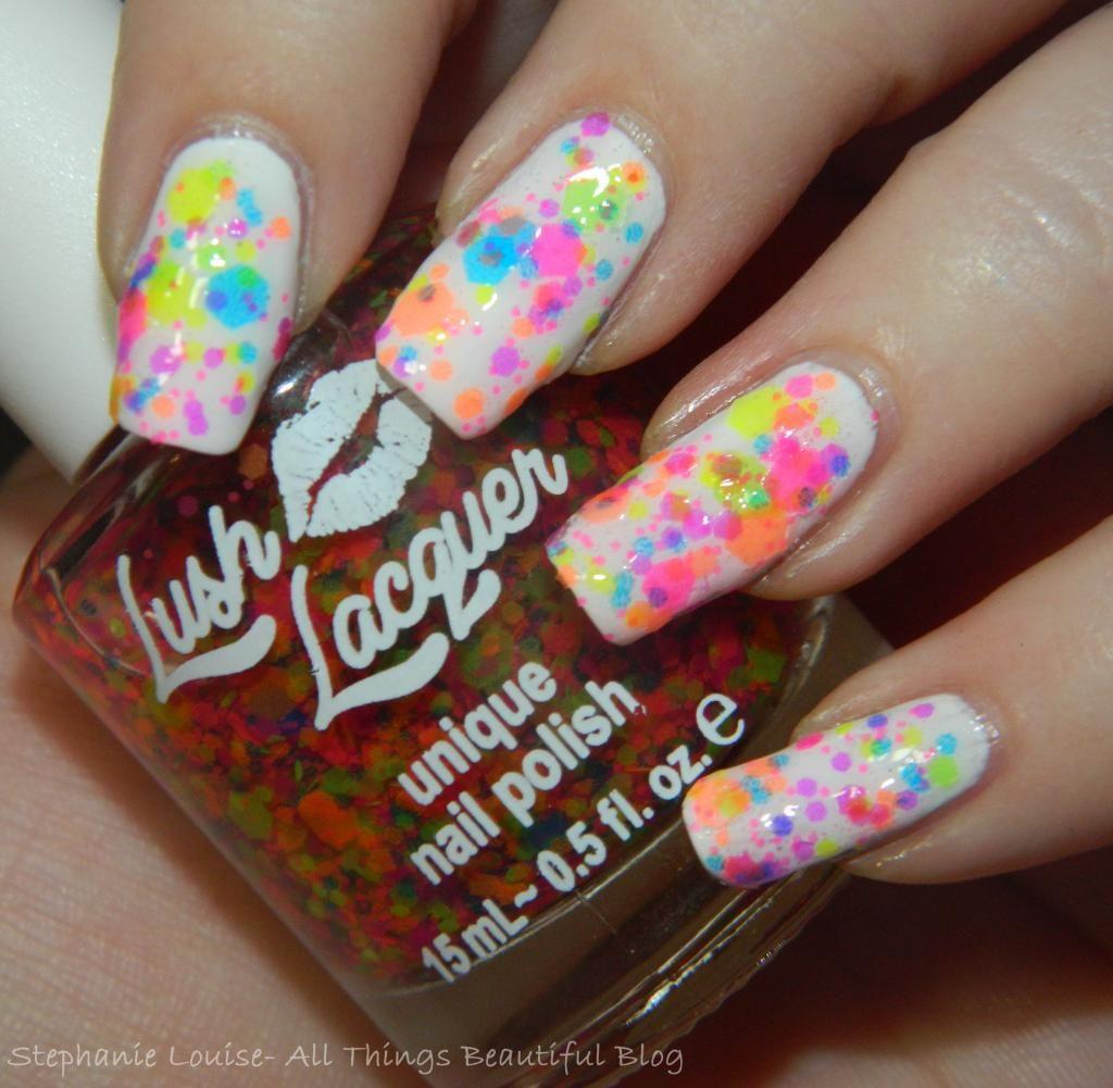 Lush Lacquer Nail Polish in Clowning Around Swatches | FUN Nail arts ...