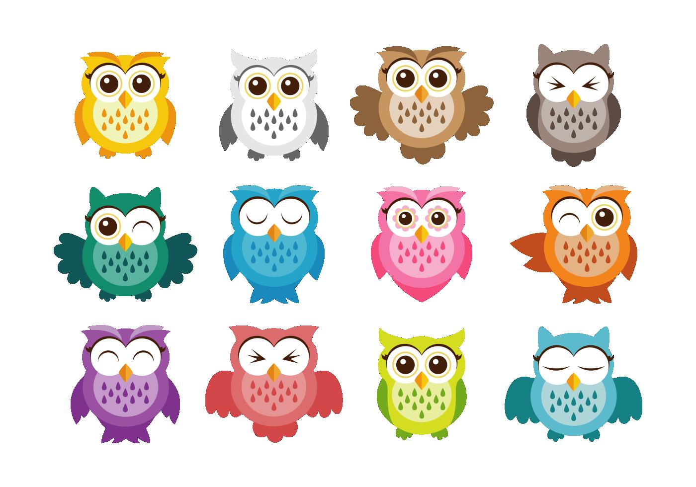 Cute Owl Vector Icons