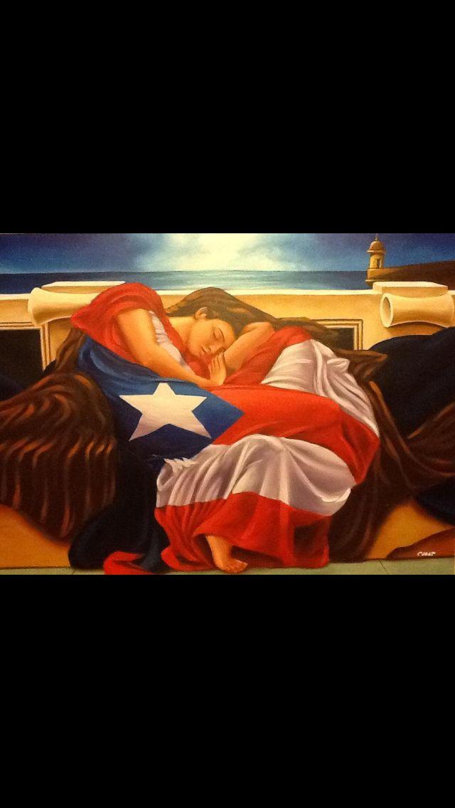 c14ac35fefe Flaming June con bandera de Puerto Rico y garita