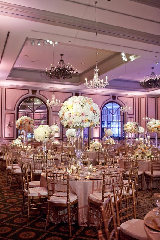 Pink, Peach, & Ivory Wedding; Adolphus Wedding ...