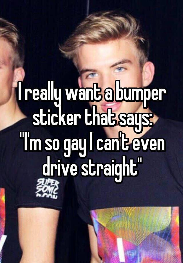 Gay joke bumper stickers