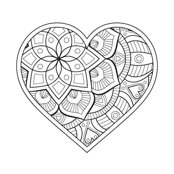 Corazon Heart Love Mandalalove Mandala Amor Mandalas