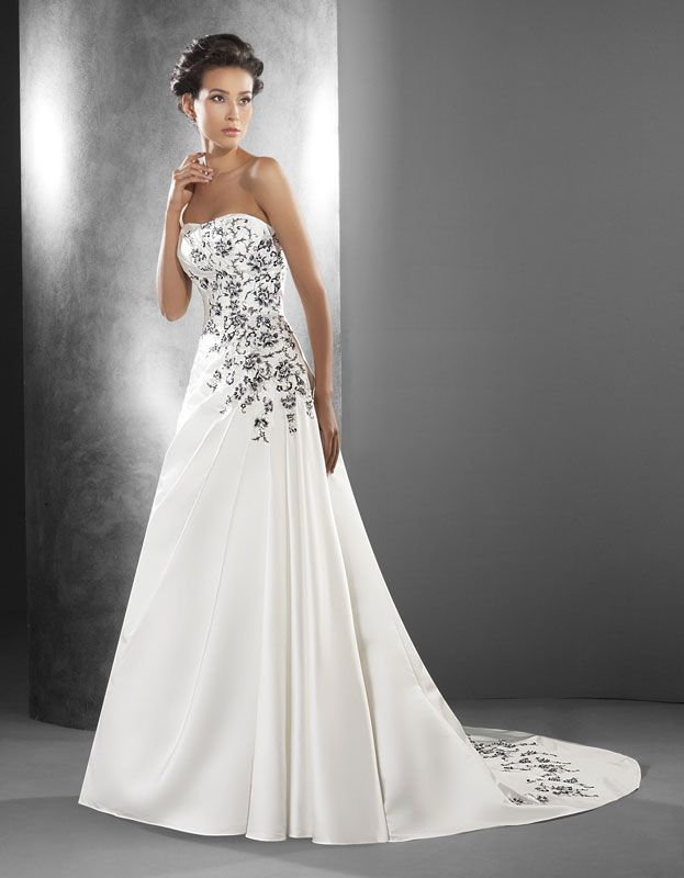 vestido novia blanco y negro - Buscar con Google | bodas | Pinterest ...