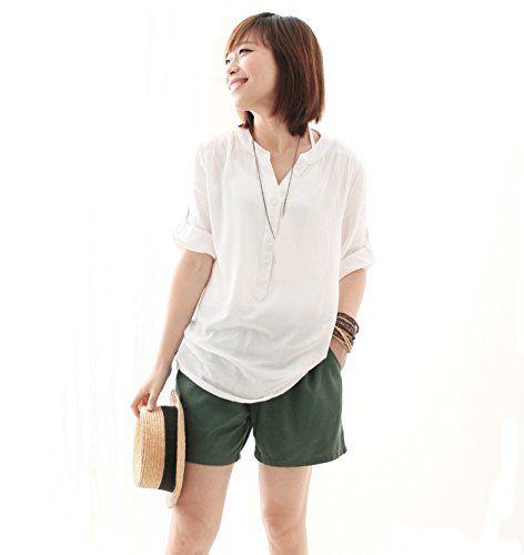 Women' s Linen Clothing Sheer V Neck Long Loose Blouse Color White Free Size Jemis http://www.amazon.com/dp/B00ND8HTNW/ref=cm_sw_r_pi_dp_OhKavb0G432TA
