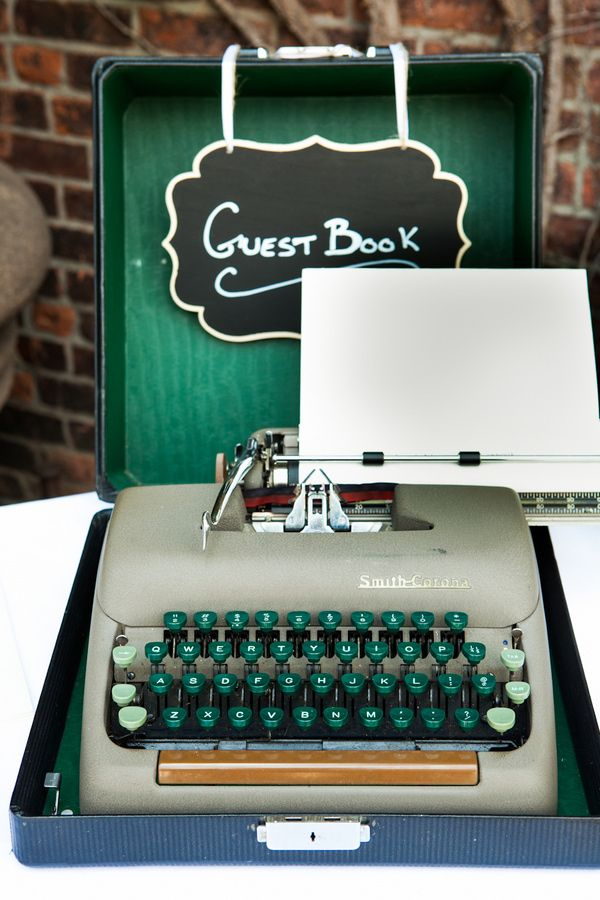 Vintage typewriters look chic at weddings, and represent the power & romance associated with the written word. How words are used in ceremonies.