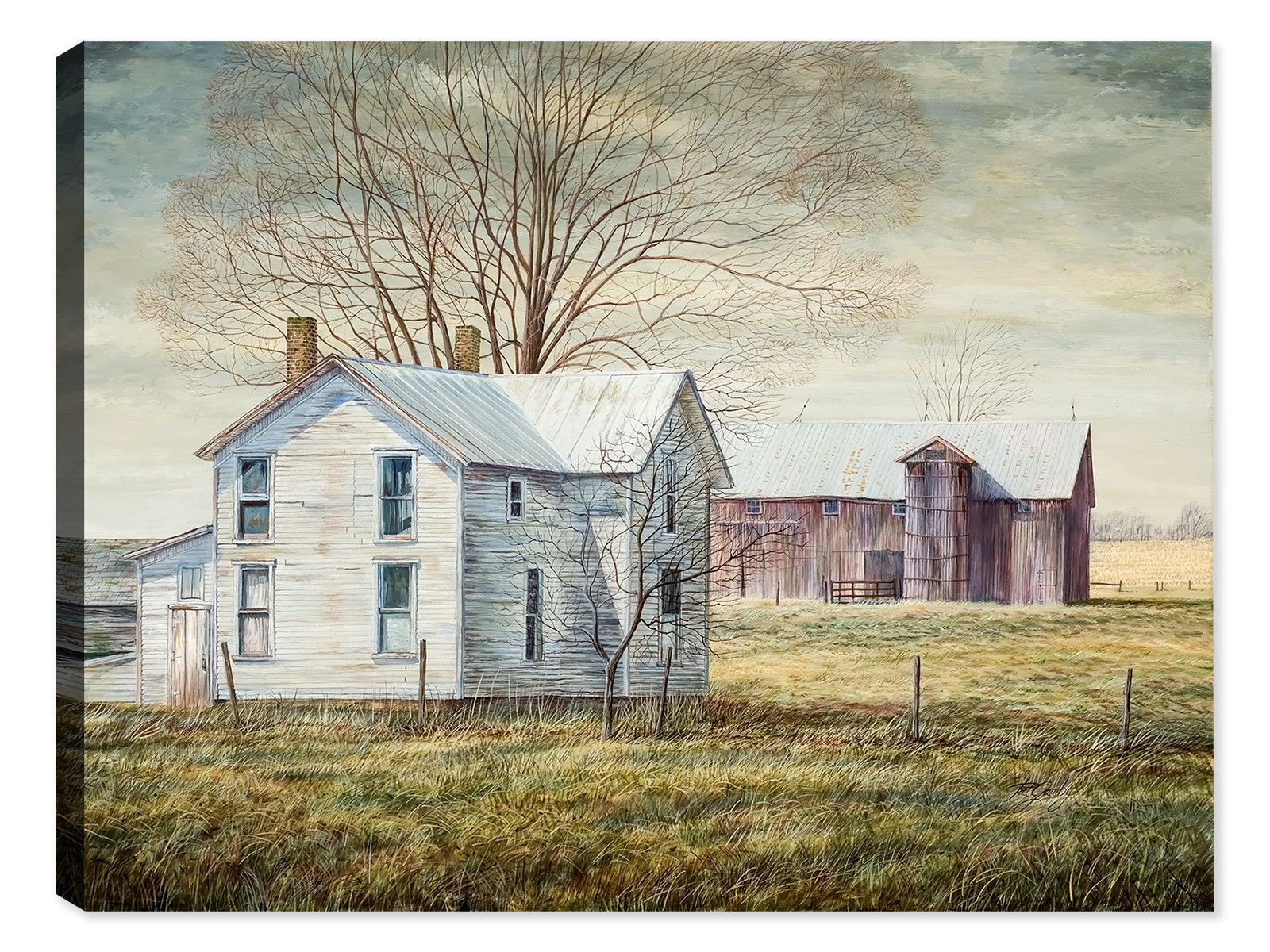 Old farmhouse by pat gamby original paintings farming for Classic farmhouse