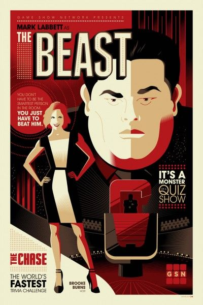 Tom Whalen Poster For The Chase Which Airs Tuesday Nights On Game Show Network Collider Game Show Game Show Network Tom Whalen