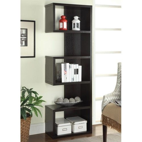 Axe Semi Backless Bookcase In Cappuccino Simply Austin Furniture With Images Backless