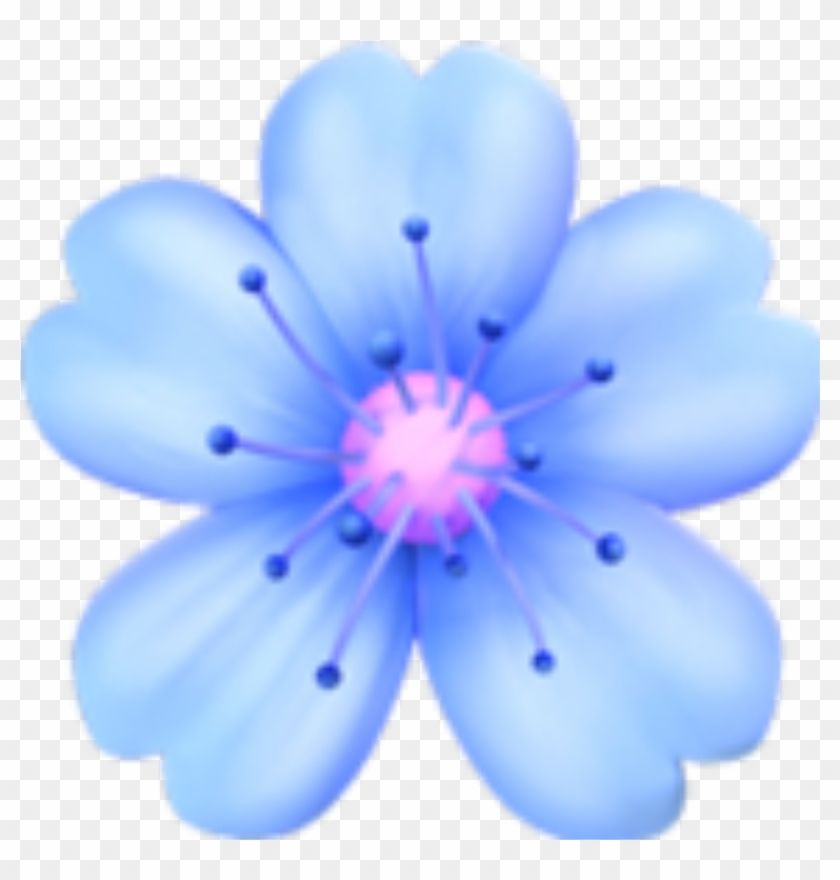 Find Hd Flowers Blue Emoji Tumblr Sticker Png Flower Tumblr Pink Flower Emoji Png Transparent Png To Search And Download M In 2020 Blue Emoji Tumblr Stickers Emoji