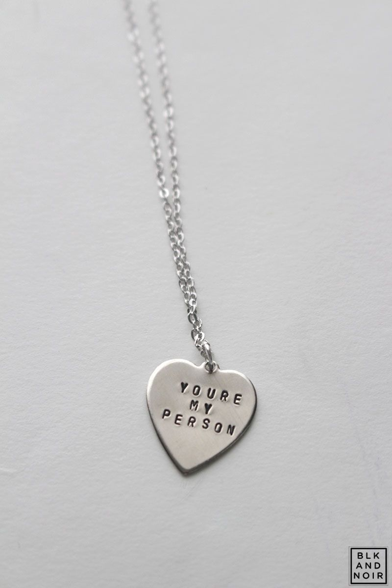 YOU\'RE MY PERSON GREY\'S ANATOMY HEART NECKLACE | BLK AND NOIR ...