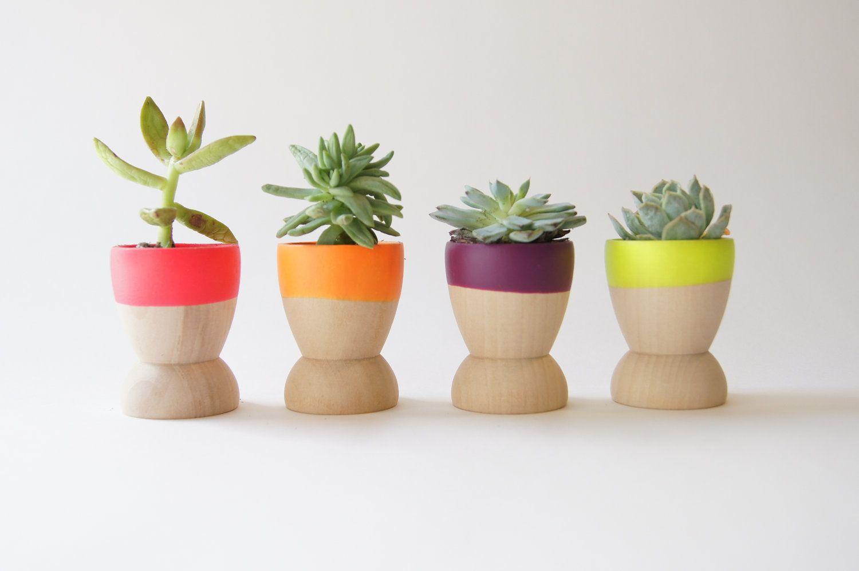 dipped wooden succulent planters | DIY Ideas | Pinterest | Planters ...