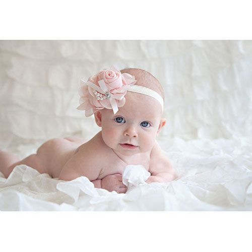 PINK FLOWER WITH PEARL HEADBAND adorable for an adorable shoot. Looking for your next newborn shoot look no further. #newborrn #babyposes #photoshoot