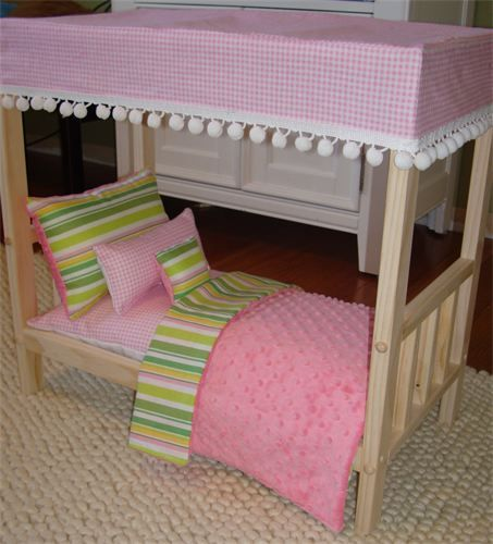 Lil' Maven Doll Boutique - Canopy Bed Doll Bedding ...