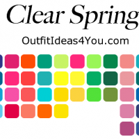 clear spring seasonal color palette
