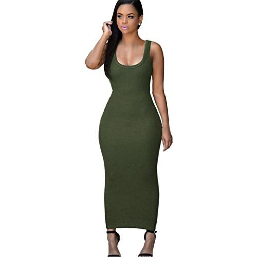 3de6b8466f79 HN Sleeveless Vest Dresses Plus Size Sexy Night Dress For Women XL Army  Green     Want to know more