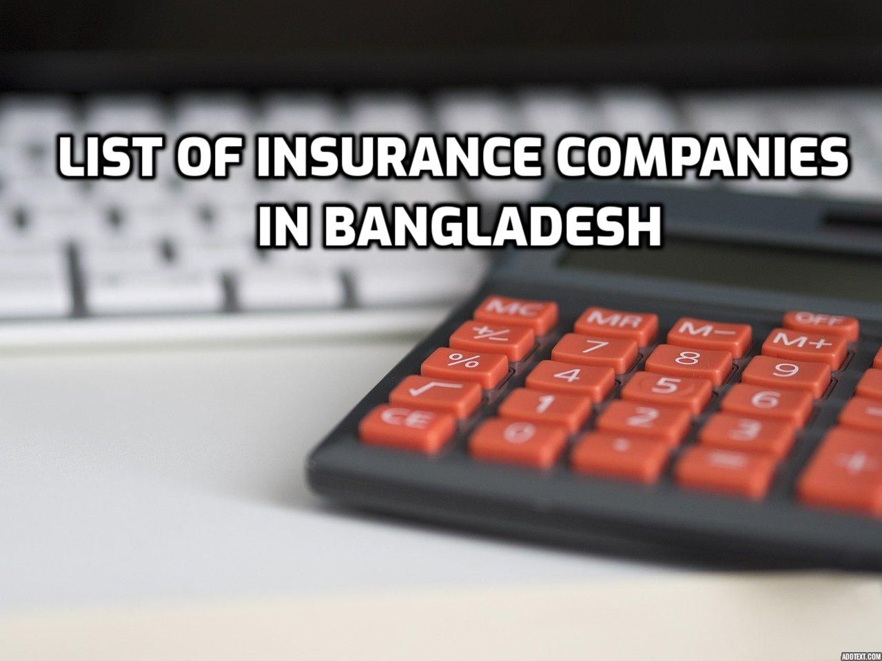List Of Insurance Companies In Bangladesh Tips