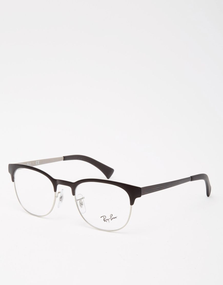 Just frames for glasses - Ray Ban Optical Clubmaster Glasses Just Got These In Silver Probably Favorite Frame So Far