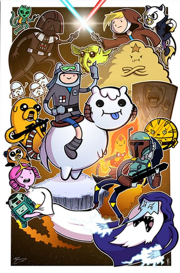 Hello Star Wars Adventure Time Art You Are Wonderful Adventure Time Crossover Adventure Time Art Adventure Time Characters