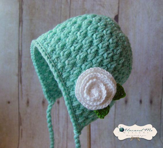 PDF Crochet Pattern Bonnie Wee por UnravelMe en Etsy | gorros y ...