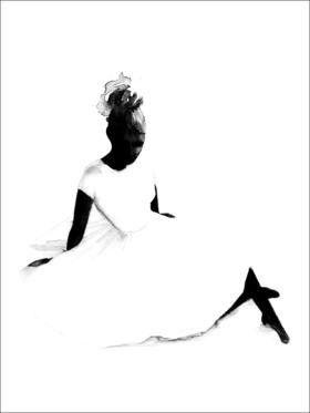 BALLERINA Print by Magdalena Tyboni  at Grøn + White