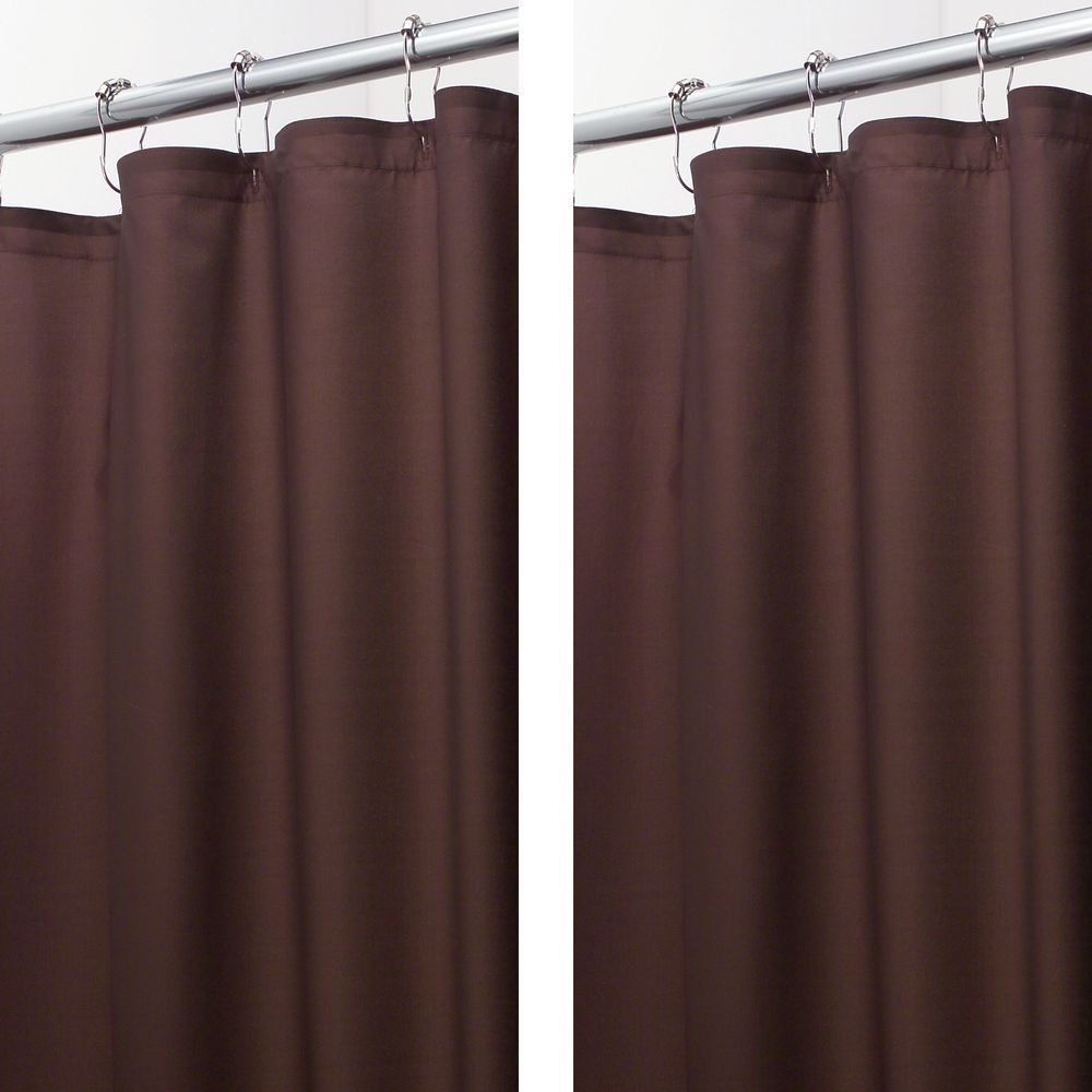 Water Repellent Fabric Shower Curtain Liner 108 X 72 In 2020 Fabric Shower Curtains Shower Curtains