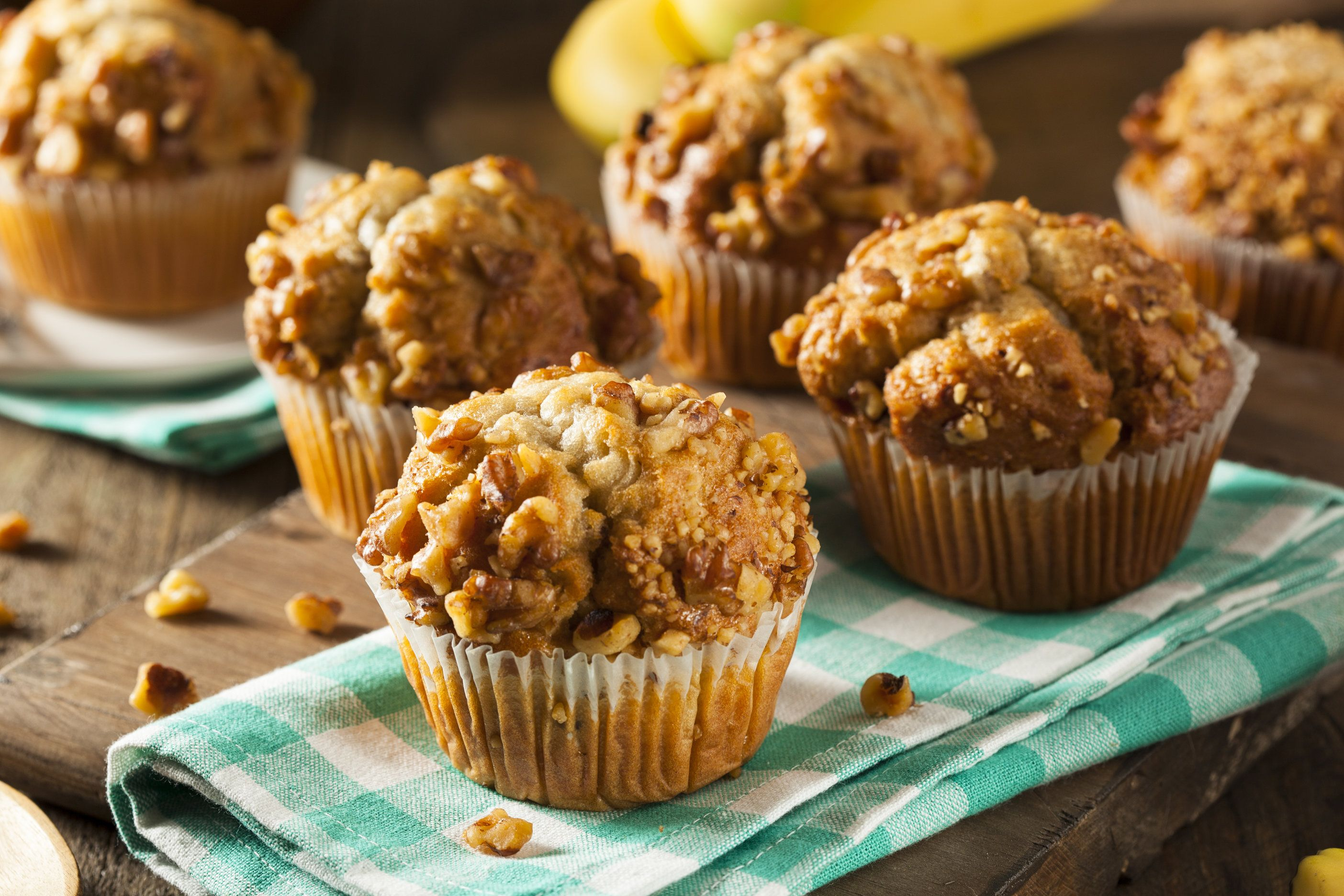 Muffin de Avena con Nueces
