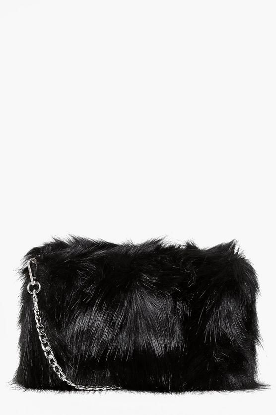 Mia Faux Fur Cross Body Bag 6c37911636b78
